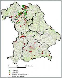 Verbreitung der Nymphenfledermaus in Bayern