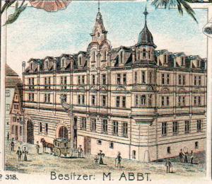 Ausschnitt aus Ansichtskarte um 1900 (Sammlung G. Dinger)